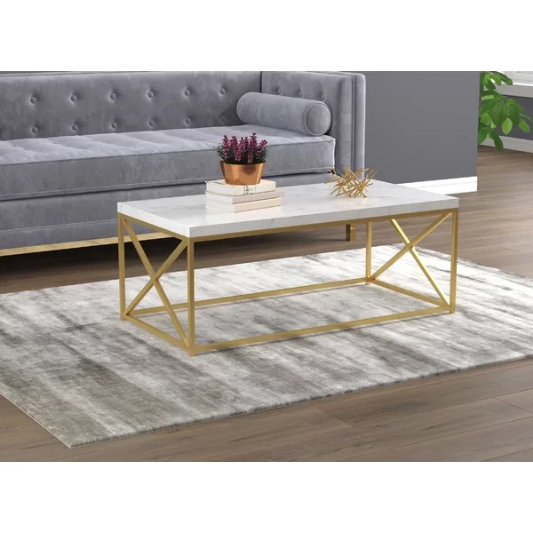 marble box frame coffee table