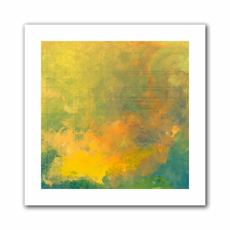 Earth and Lines I by Jan Weiss Painting Print on Rolled Canvas Size: 36 H x 36 W