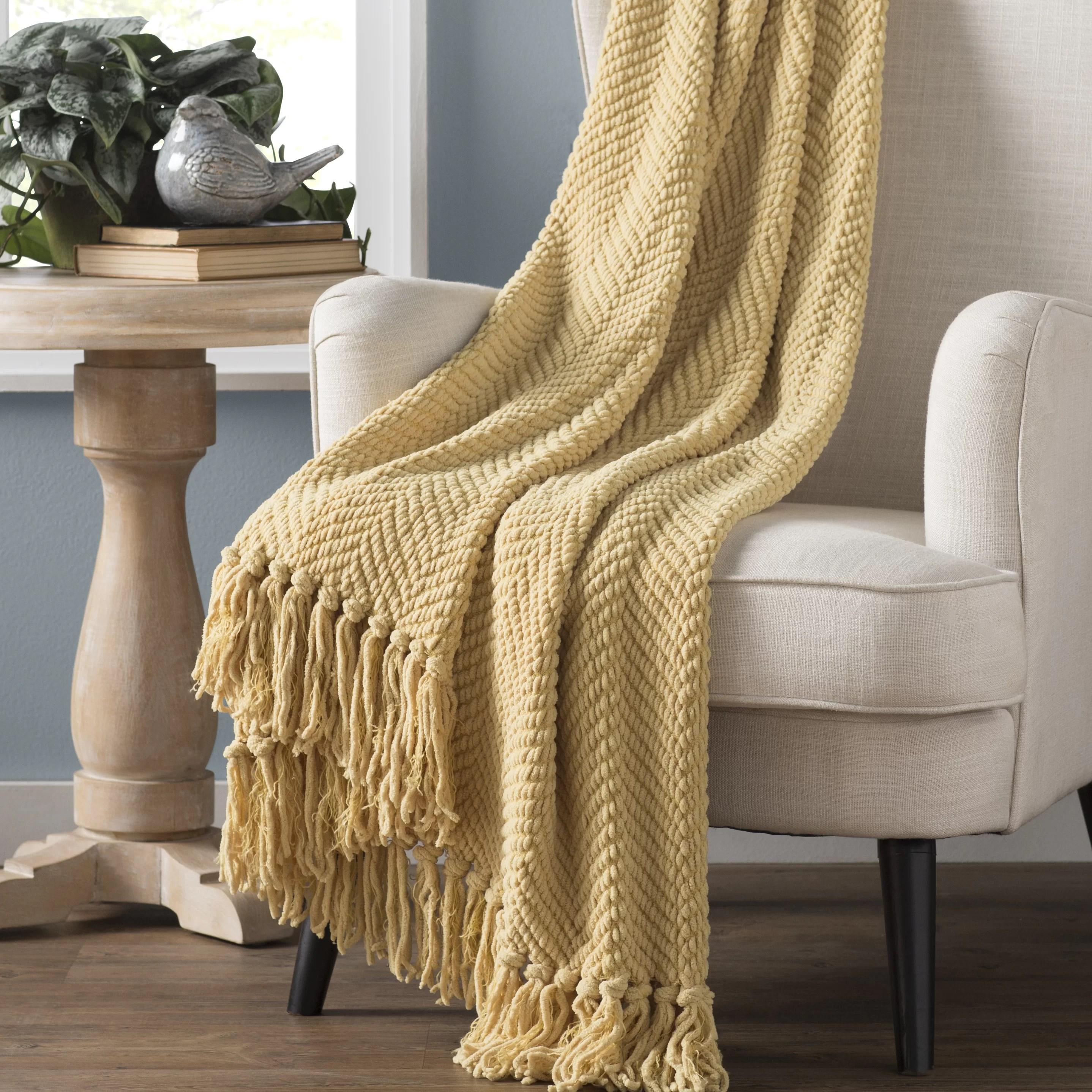 nader tweed knitted throw