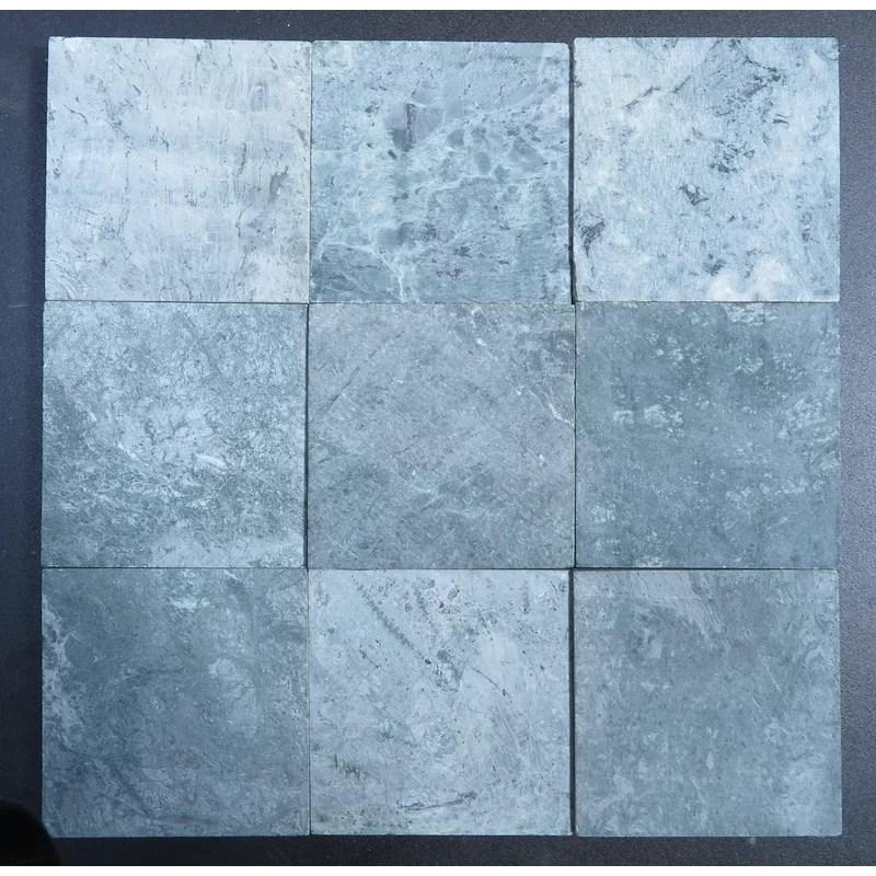 dark green honed 4x4 marble field tile