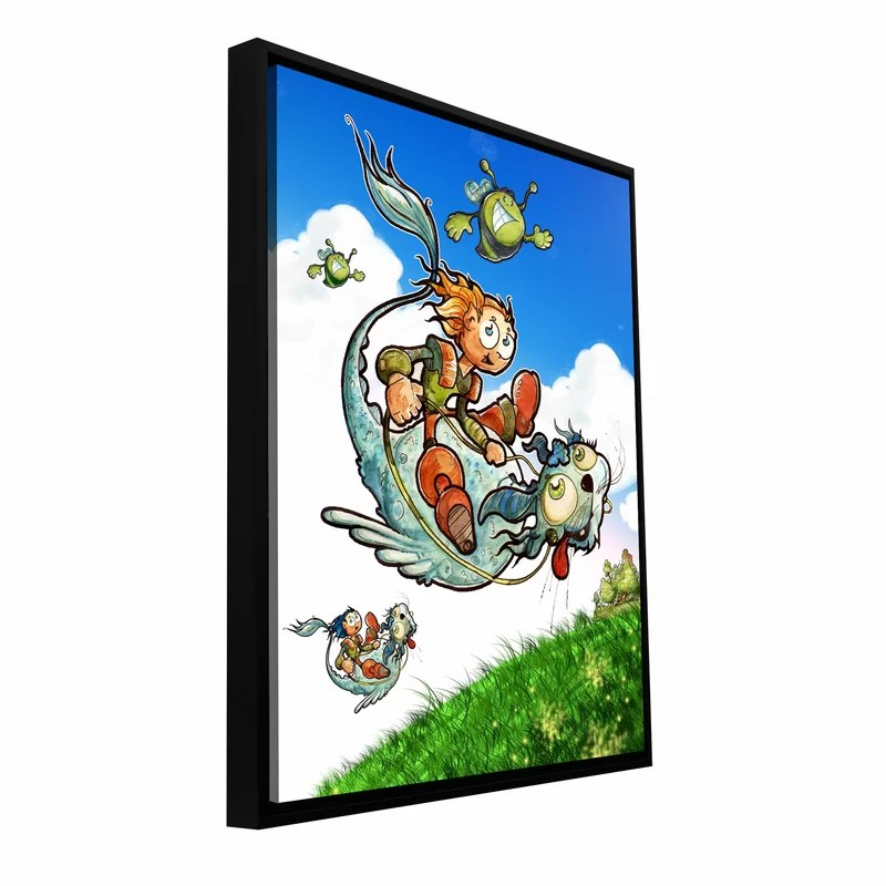 Flying 1 by Luis Peres Framed Graphic Art on Wrapped Canvas Size: 24 H x 18 W