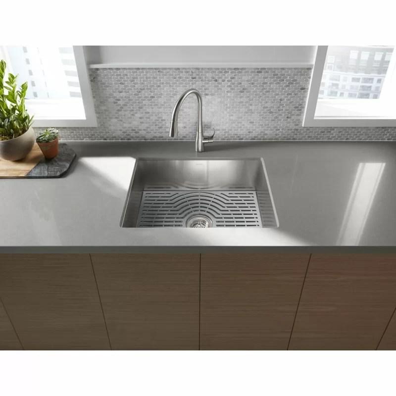 ludington under mount single bowl kitchen sink with accessories