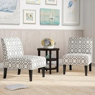 accent armchairs for living room striped curtains set of 2 chairs wayfair veranda slipper chair