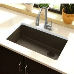 Under Mount Kitchen Sink Island Wine Fridge Elkay Undermount Sinks You Ll Love Wayfair Quickview Quartz Classic 33 L X 19 W