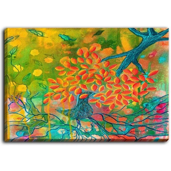 Everything is Rooted in Love by Kim Ellery Painting Print on Wrapped Canvas Size: 30 H x 40 W x 1.5 D
