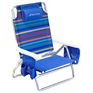 beach lawn chairs bentwood office chair you ll love wayfair 5 position reclining folding