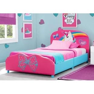 jojo siwa upholstered twin platform bed