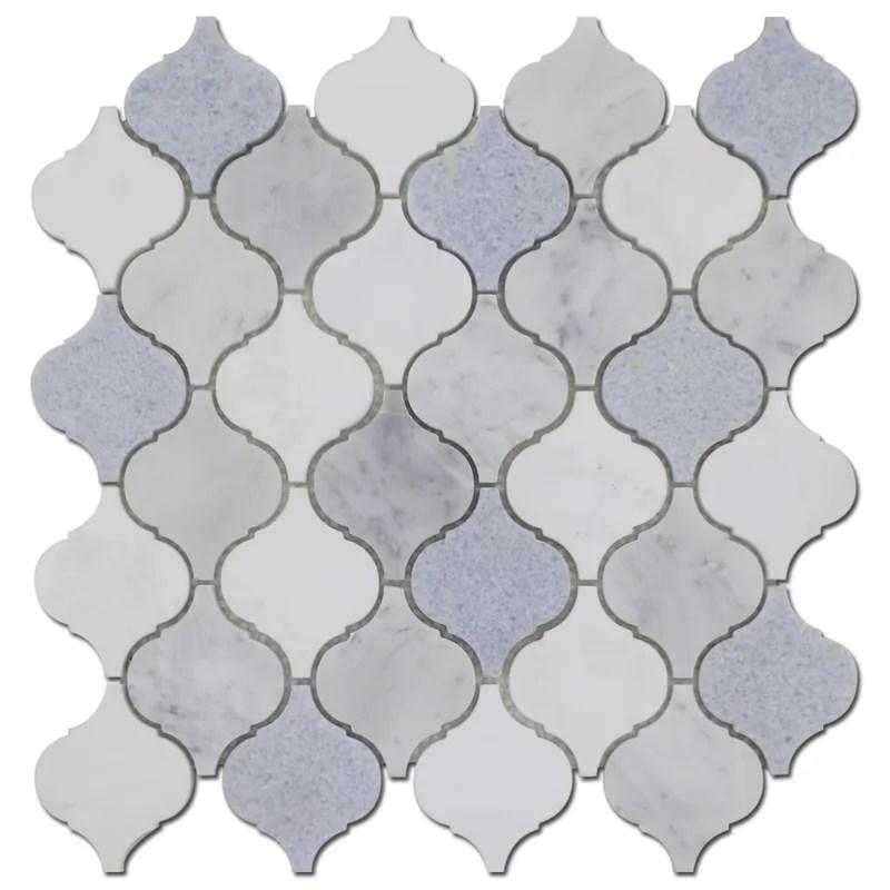 arabesque 12 x 12 marble mosaic tile