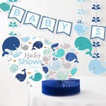 Baby Whale Baby Shower Decoration Kit