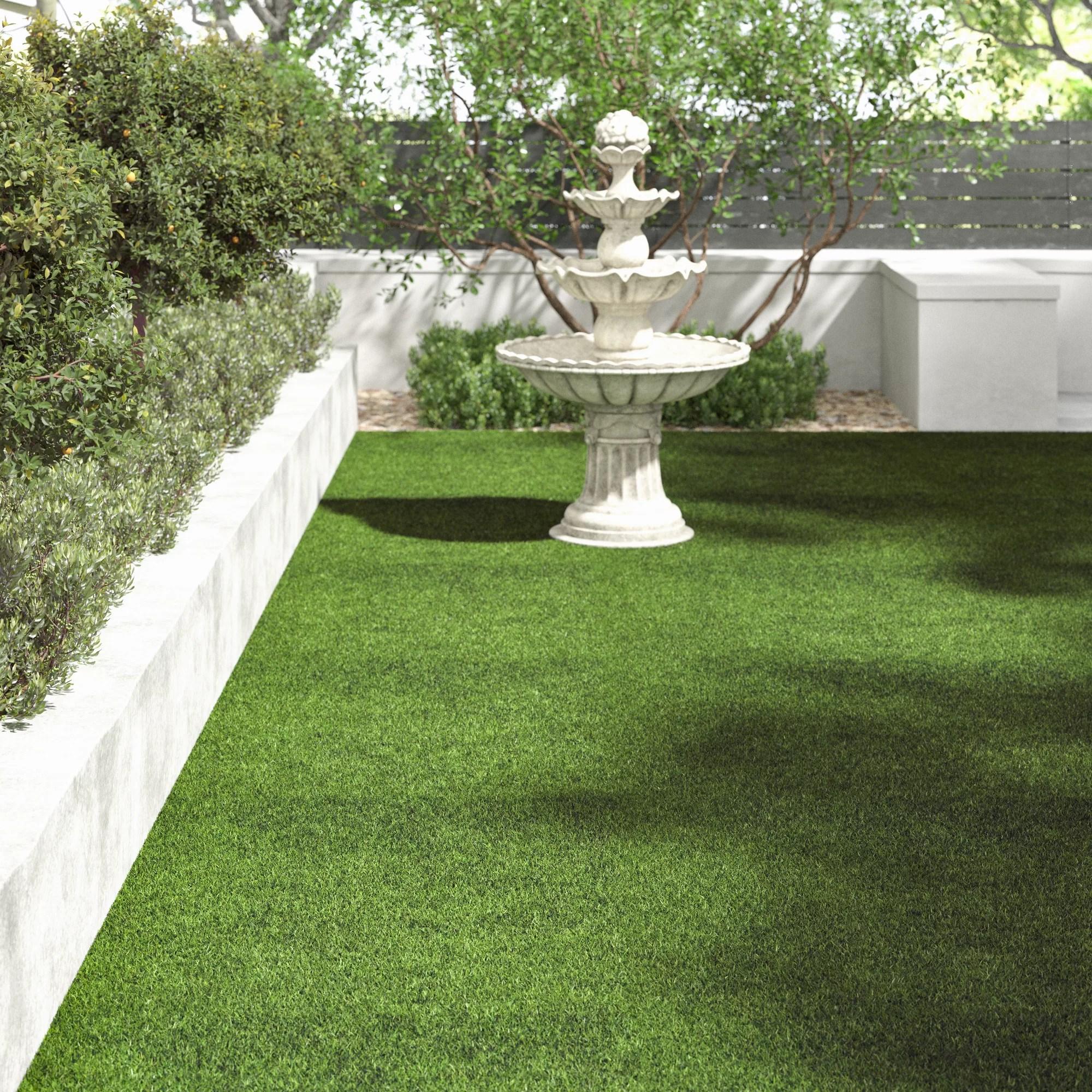 tapis interieur exterieur vert en gazon synthetique grimes