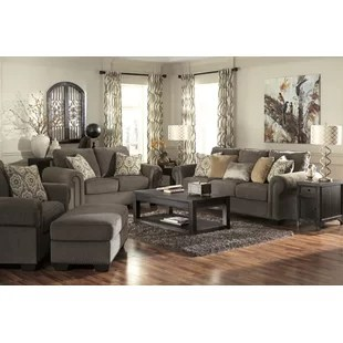grey living room furniture set design with white leather sofa antique wayfair cassie configurable