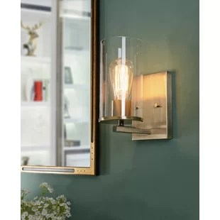 briscoe 1 light dimmable antique brass armed sconce