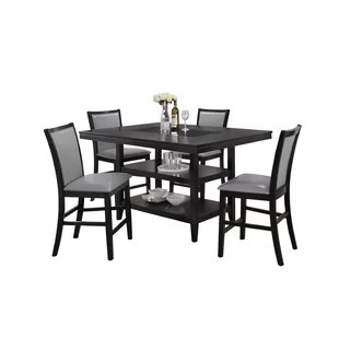 grey kitchen table and chairs rocking chair for baby room counter height dining sets you ll love wayfair ashton 5 piece set