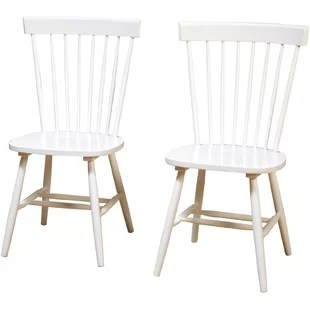 chairs kitchen stacked stone outdoor white dining you ll love wayfair royal palm beach solid wood chair set of 2
