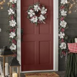 The Holiday Aisle 5 Frosted Magnolia And Berry Artificial Garland Reviews Wayfair Ca