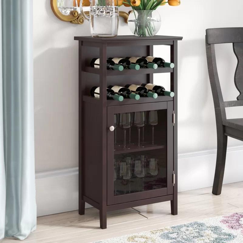 stapp 8 bottle floor wine cabinet