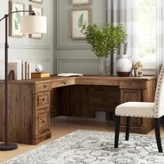 farmhouse rustic l shaped desks