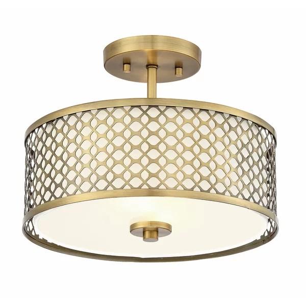 semi flush mount lighting you ll love