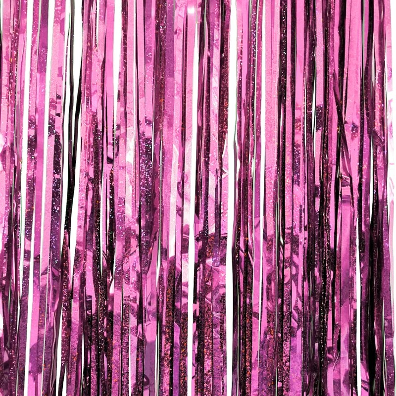party birthday door decor metallic foil fringe curtain tinsel photo backdrop