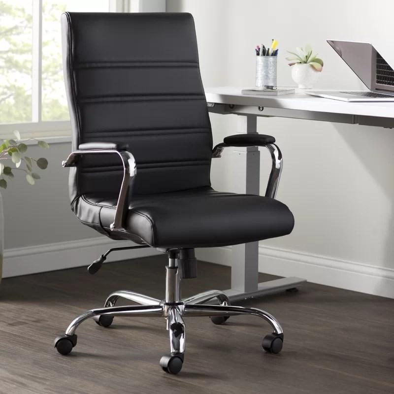Wayfair Basics High Back Swivel with Wheels Ergonomic Executive Chair
