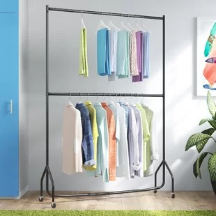two tier heavy duty clothes rack