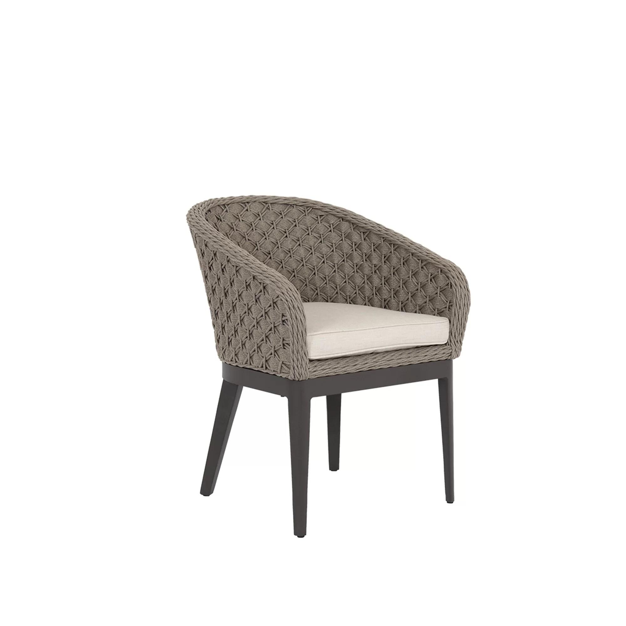 aberdeen patio dining chair with sunbrella cushions