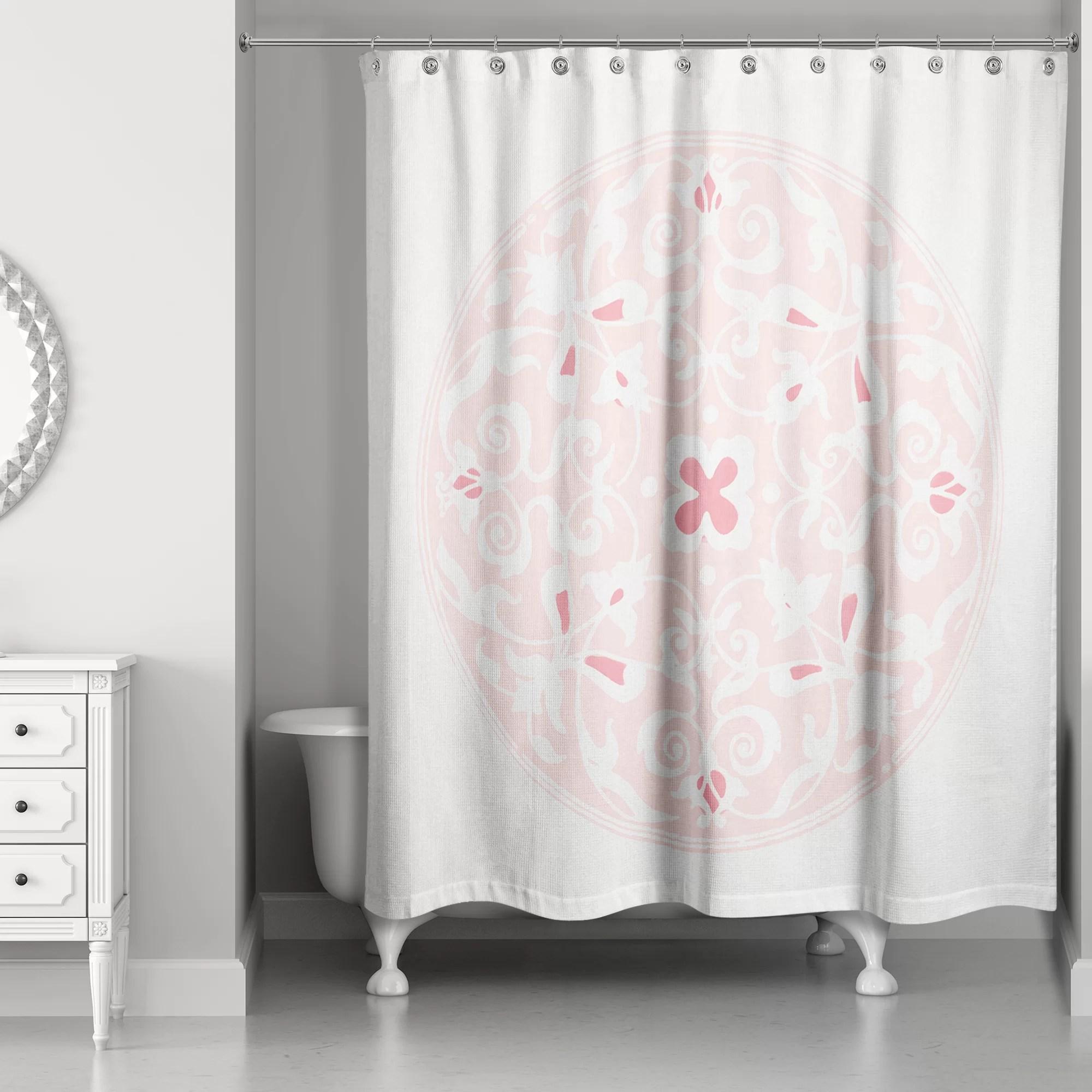 clayborn circle single shower curtain