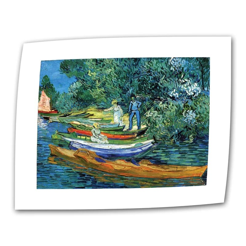 Bank of the Oise at Auvers by Vincent van Gogh Painting Print on Rolled Canvas Size: 18 H x 24 W