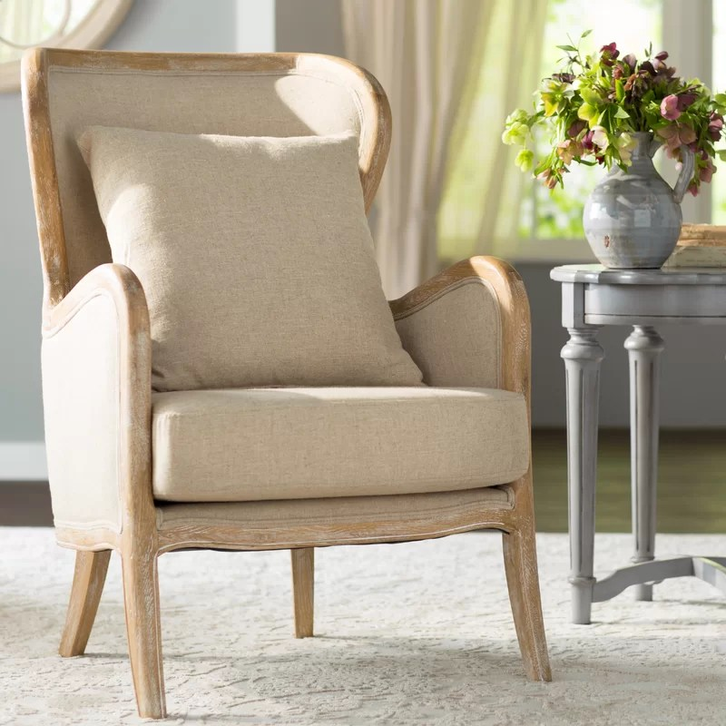 accent wingback chairs chair and half slipcover lark manor gazon wayfair