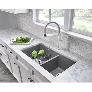 gray kitchen sink red rugs sinks you ll love wayfair quickview