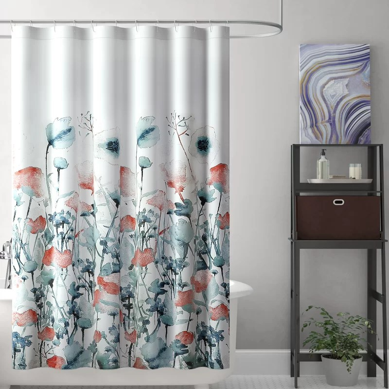 balig floral single shower curtain