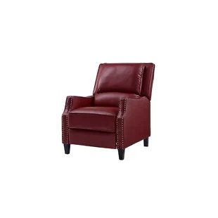 red recliner chairs office with wheels recliners you ll love wayfair quickview
