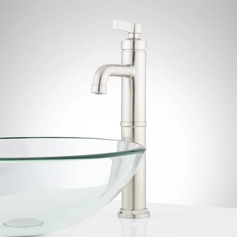 signature hardware greyfield single hole vessel faucet