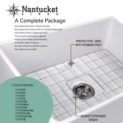 Kitchen Sink Grates Utensil Sets Cape 30 L X 18 W Farmhouse With Grid Reviews