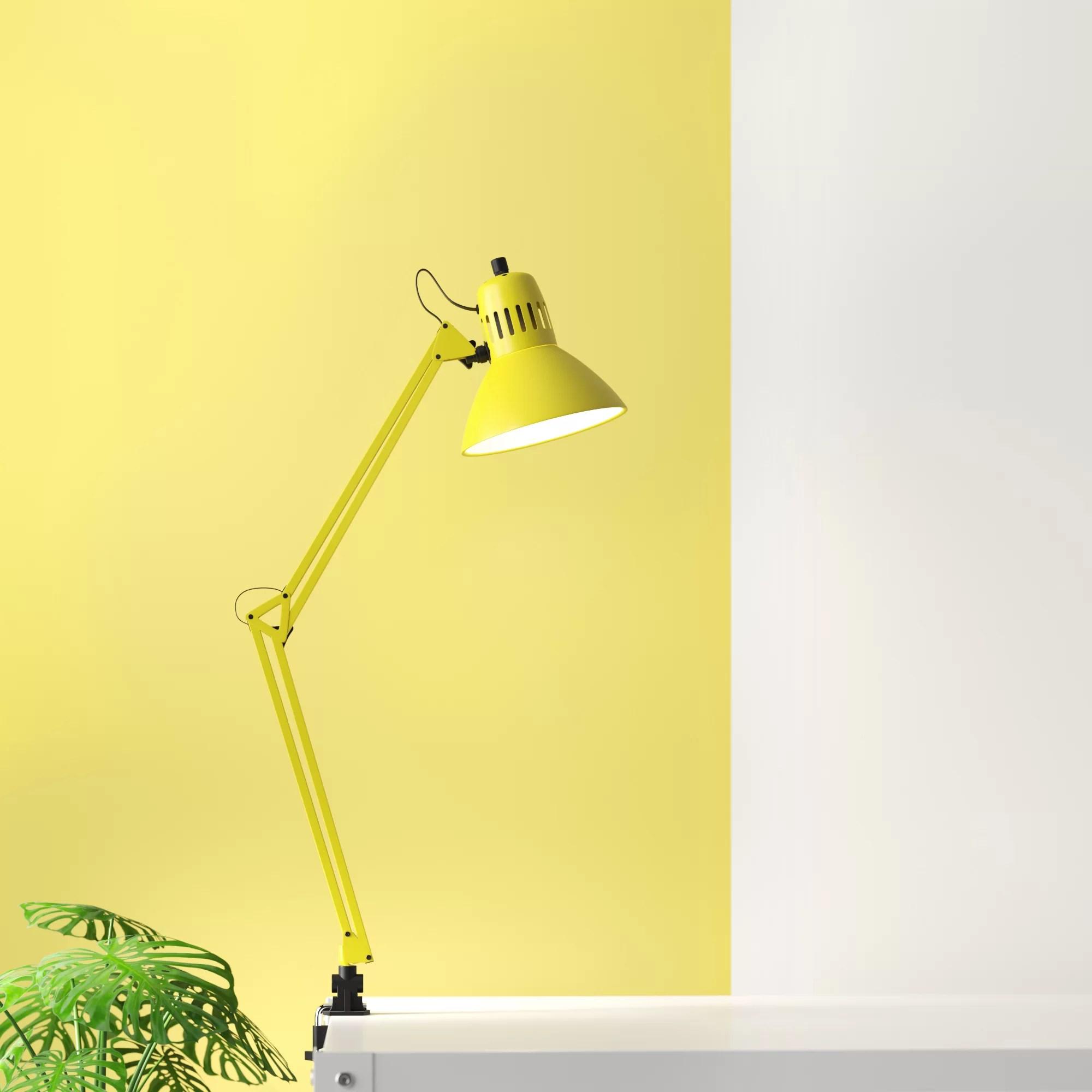 Hashtag Home Dermott Architect Clamp 34 Desk Lamp Reviews Wayfair