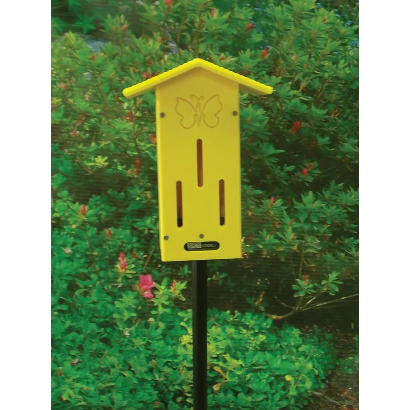 Recycled Pole 13 in x 9 in x 5 in Butterfly House