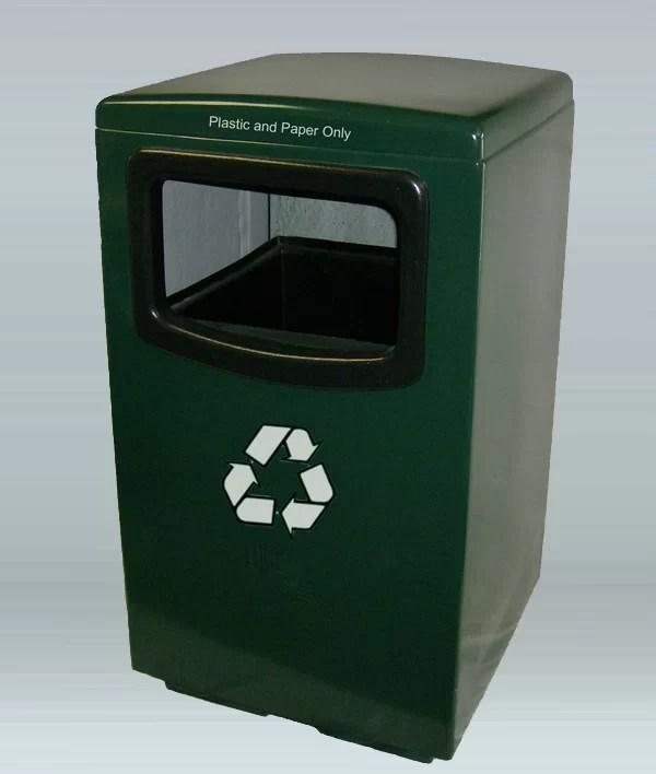 Amber 50 Gallon Recycling Bin Color: Mauve Dust