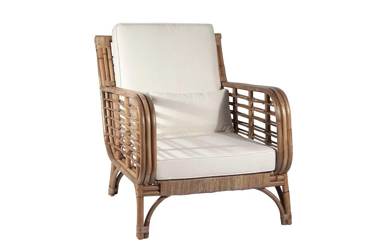 Ibolili Square Back Rattan Chair & Reviews