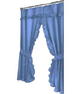 biermann double swag single shower curtain