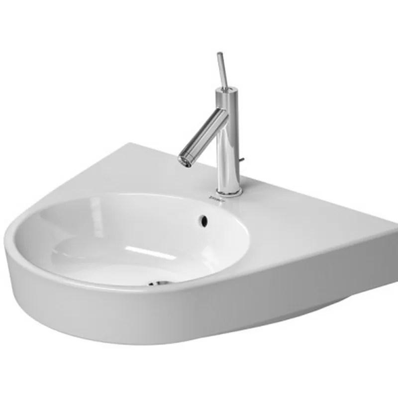 Starck Ceramic 26 Wall Mount Bathroom Sink with Overflow