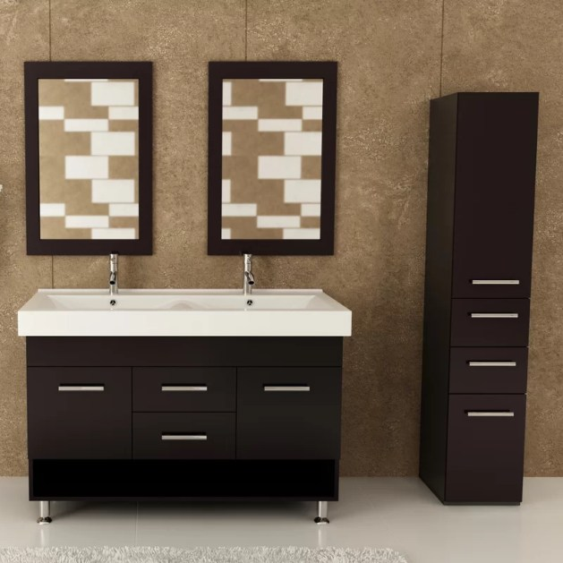 "Faycelles Rigel 48"" Double Bathroom Vanity"