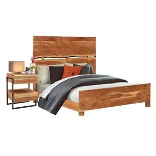 evgenia queen solid wood standard 2 piece bedroom set