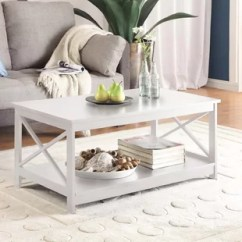 Tables For The Living Room Big Pictures White Coffee You Ll Love Wayfair Quickview