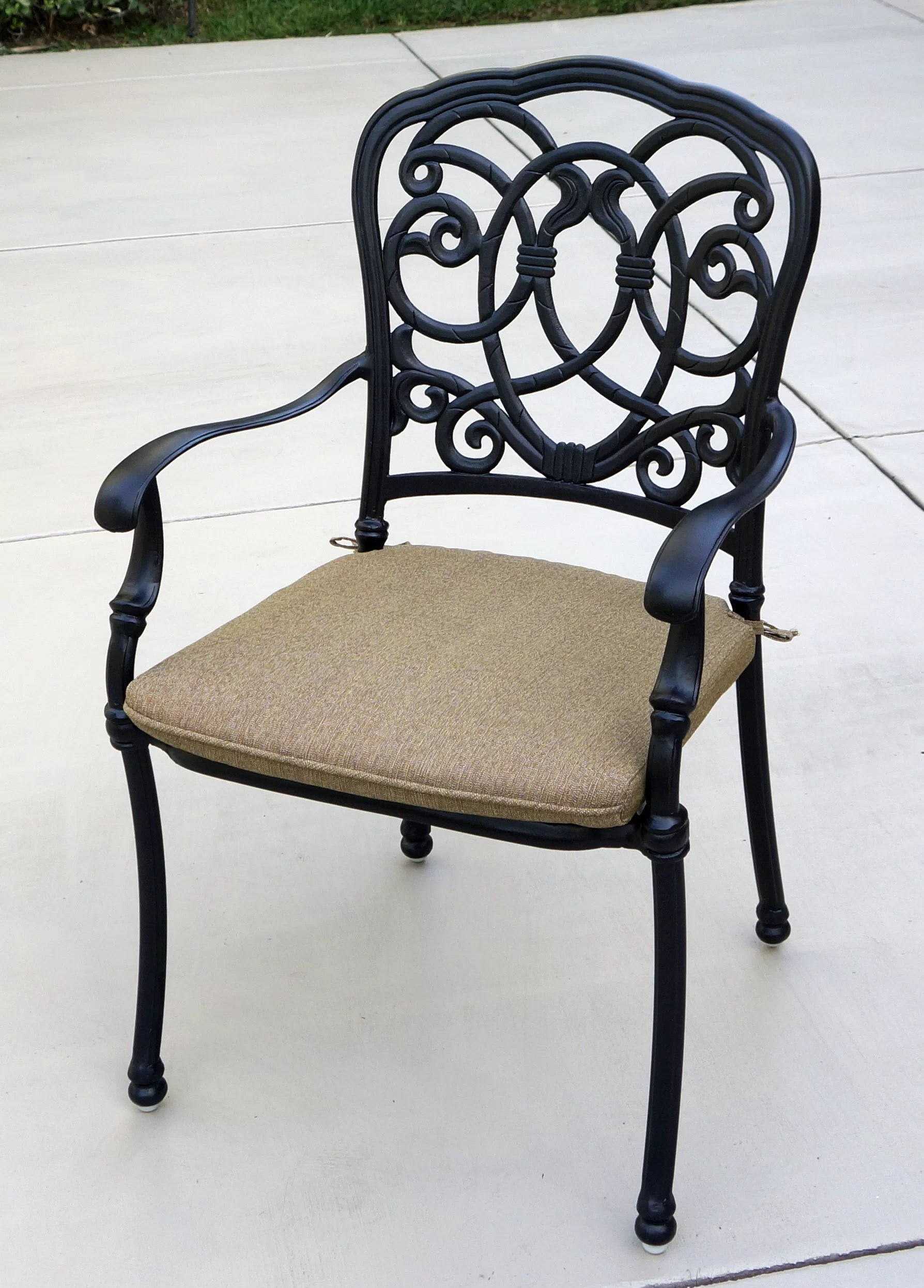 battista stacking patio dining chair with cushion