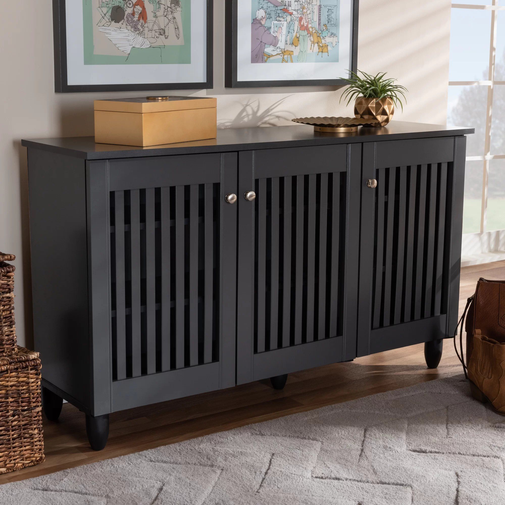 Entryway 12 Pair Shoe Storage Cabinet Reviews