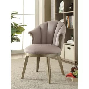 barrel back chair low camping chairs wayfair bejarano fabric upholstered wooden curved backrest