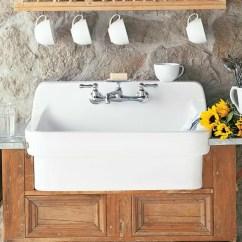 Country Kitchen Sink Wooden Shelves American Standard 30 L X 22 W Reviews Wayfair