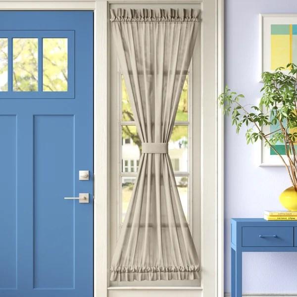 wayfair basics solid room darkening thermal rod pocket single curtain door panel