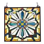 Rosalind Wheeler Godfrey Stained Glass Window Panel Wayfair