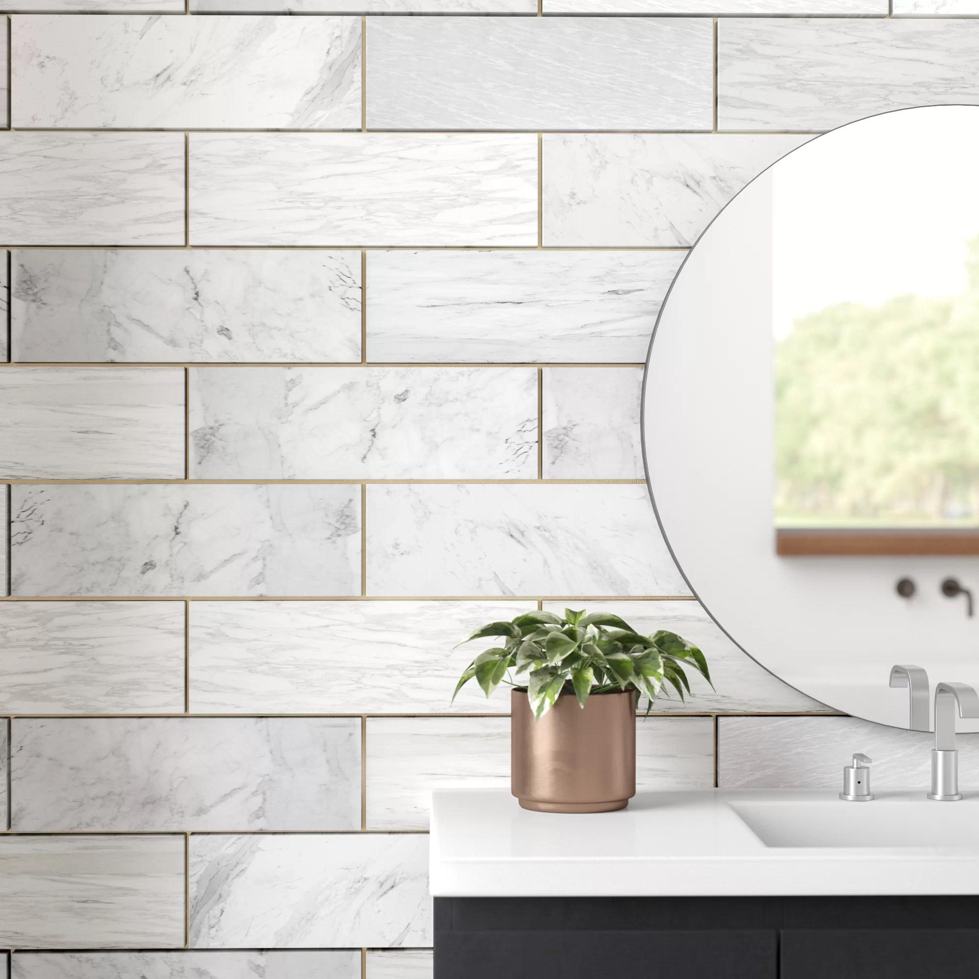 4 x 12 marble look wall floor tile